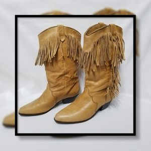 Dingo Vintage 90's Cowgirl Fringed Boot
